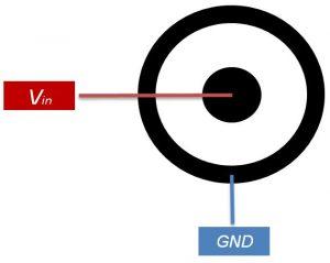 Konfigirasi penghubung catu daya Arduino Uno